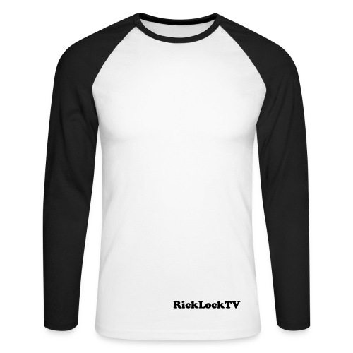 RickLockTV B/ t-shirt - Men's Long Sleeve Baseball T-Shirt