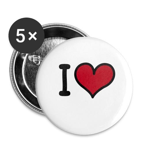Spilla ILOVE - Confezione da 5 spille piccole (25 mm)