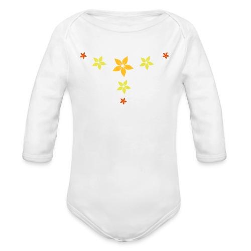 Blumen sterne - Baby Bio-Langarm-Body