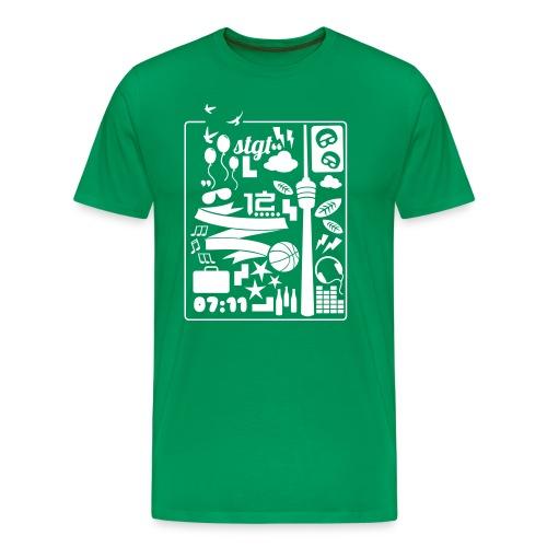 0711 A DAY IN STGT - Männer Premium T-Shirt
