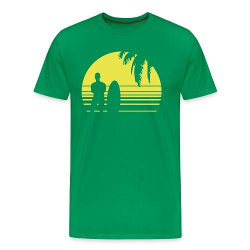 SUNSET SURFING - Männer Premium T-Shirt