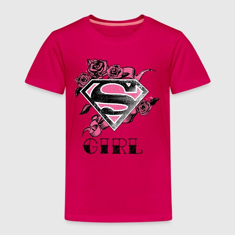 tee shirt tee shirt pour enfants superman s shield girl rose spreadshirt. Black Bedroom Furniture Sets. Home Design Ideas