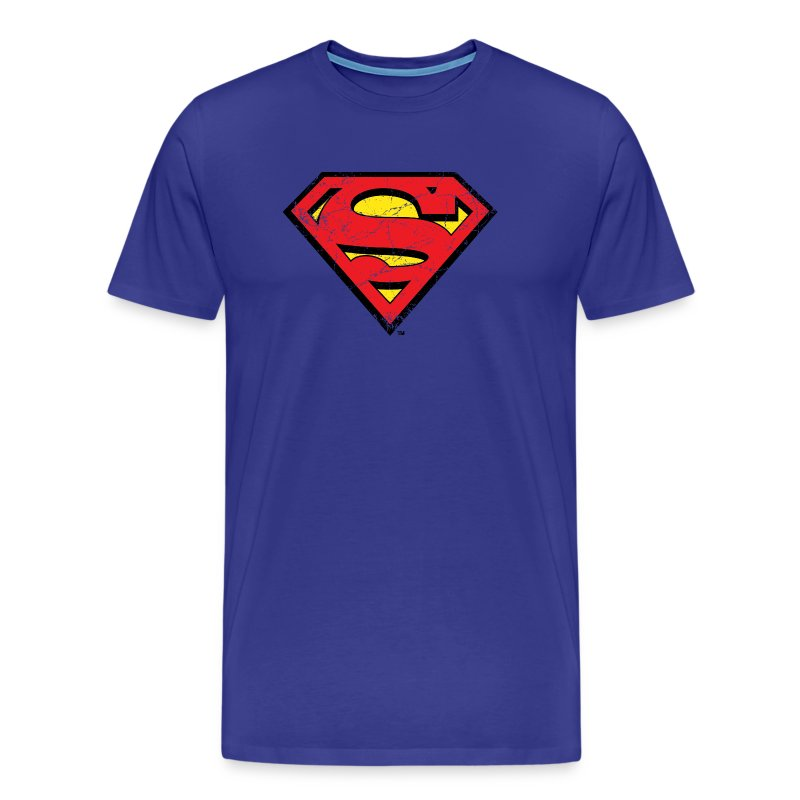 tee shirt tee shirt pour hommes superman s shield spreadshirt. Black Bedroom Furniture Sets. Home Design Ideas