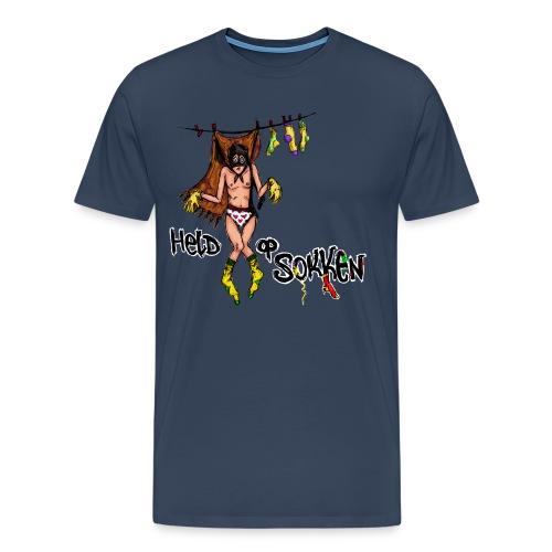 Held op sokken - Mannen Premium T-shirt