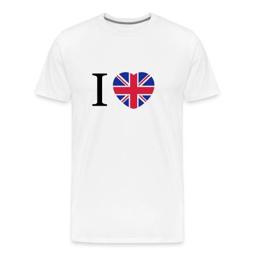 I love England Coeur - T-shirt Premium Homme