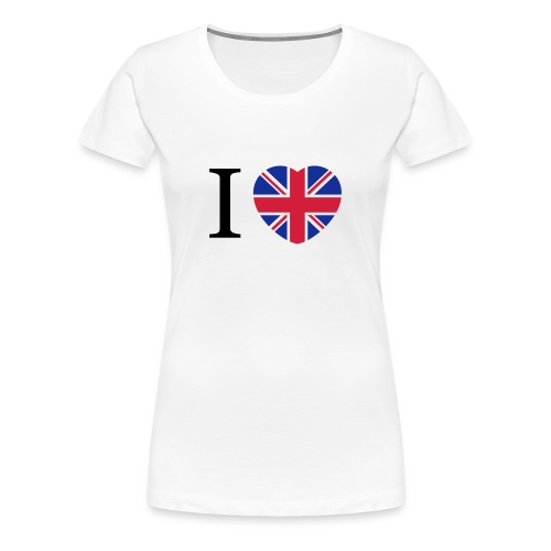 I love England Coeur - T-shirt Premium Femme