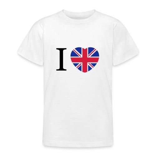 I love England Coeur - T-shirt Ado