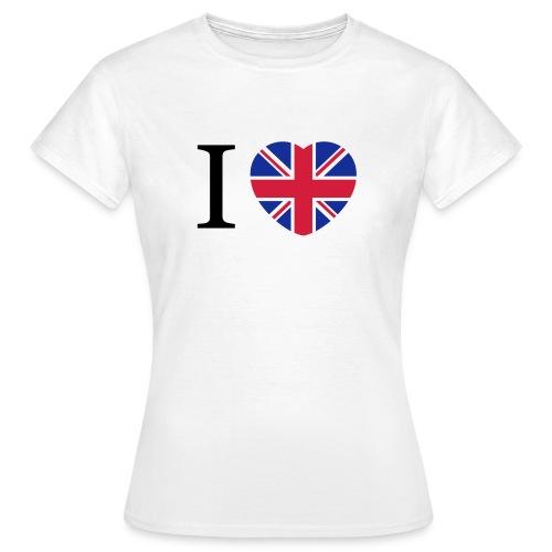 I love England Coeur - T-shirt Femme