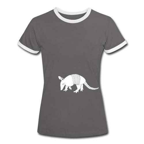 tier t-shirt gürteltier armadillo gürtel faultier - Frauen Kontrast-T-Shirt