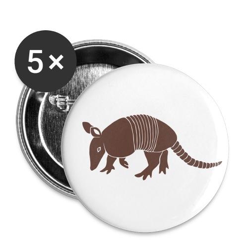 tier t-shirt gürteltier armadillo gürtel faultier - Buttons groß 56 mm