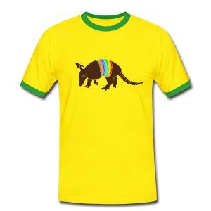 tier t-shirt gürteltier armadillo gürtel faultier - Männer Kontrast-T-Shirt