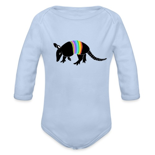 tier t-shirt gürteltier armadillo gürtel faultier - Baby Bio-Langarm-Body