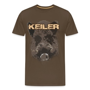 Jagdshirt - Keiler braun - Männer Premium T-Shirt