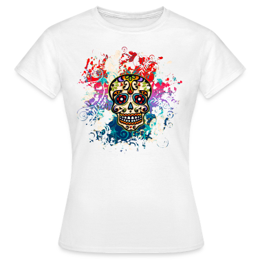 Mexican Sugar Skull - Day of the Dead T-Shirts