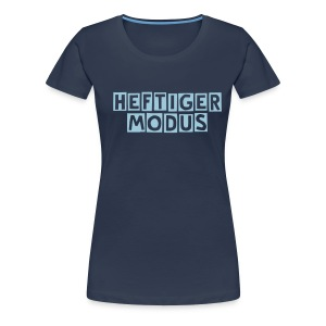 HEFTIGER MODUS-Shirt Girly blue, BC-Logo back white - Frauen Premium T-Shirt