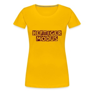 HEFTIGER MODUS-Shirt Girly dark red, BC-Logo back white - Frauen Premium T-Shirt