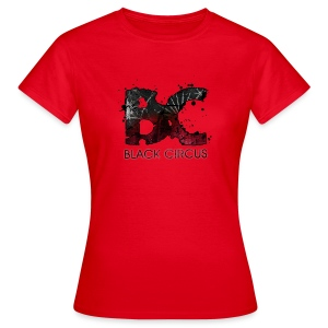 BC-Shirt Girly, Logo front red, Logo back white - Frauen T-Shirt