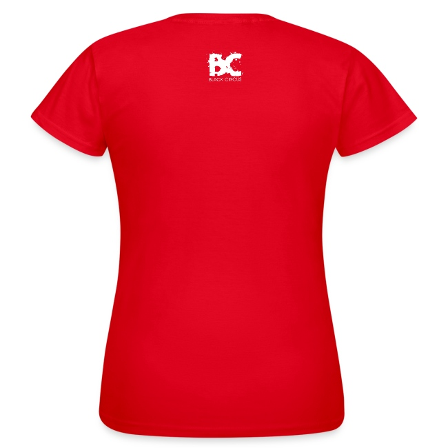 BC-Shirt Girly, Logo front red, Logo back white
