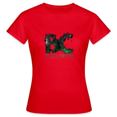 BC-Shirt Girly, Logo front green, Logo back white - Frauen T-Shirt