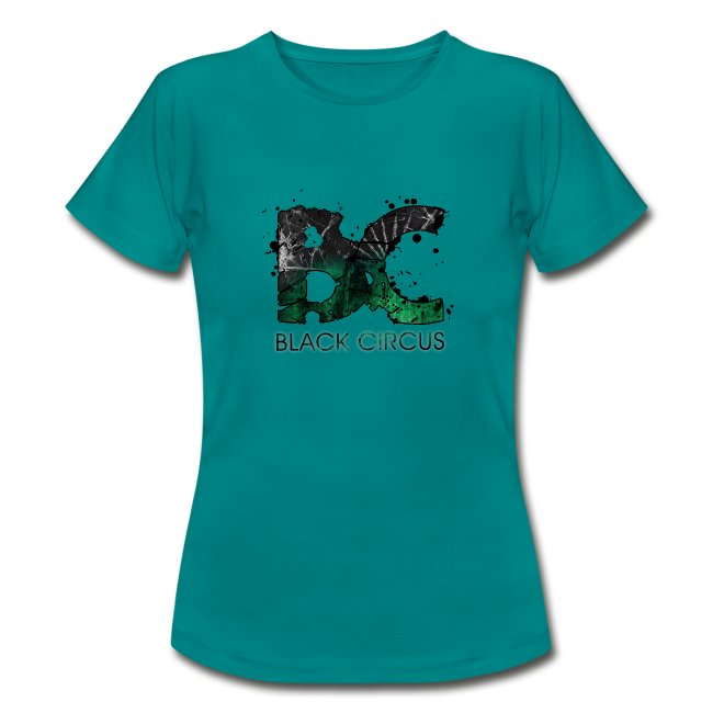 BC-Shirt Girly, Logo front green, Logo back white