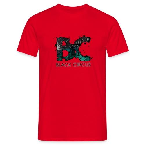 BC-Shirt Logo front aqua, Logo back white - Männer T-Shirt