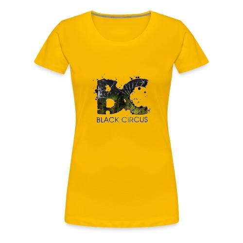 BC-Shirt Girly, Logo front yellow, Logo back white - Frauen Premium T-Shirt