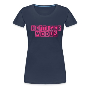 HEFTIGER MODUS-Shirt Girly pink, BC-Logo back white - Frauen Premium T-Shirt