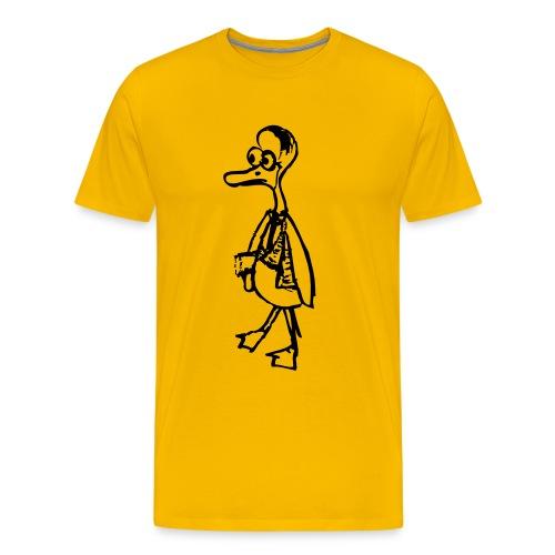 Doof Duck - Yellow T shirt - Men's Premium T-Shirt