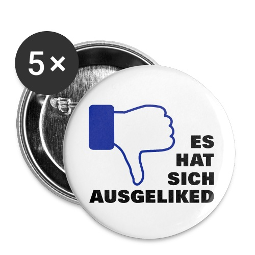 ausgeliked, disliked - Buttons klein 25 mm