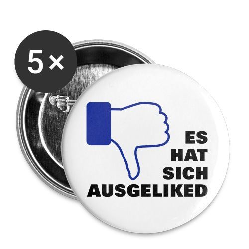 ausgeliked, disliked - Buttons groß 56 mm