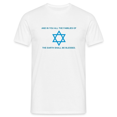 Blessing through Israel t-shirt - Men's T-Shirt