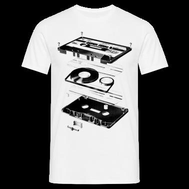 White Compact Cassette- Tape - Music - 80s Men's Tees