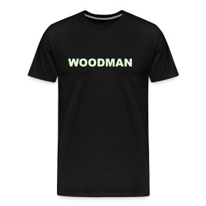 Glow in the dark - WOODMAN + Spider V2, T-Shirt, F/B - Men's Premium T-Shirt