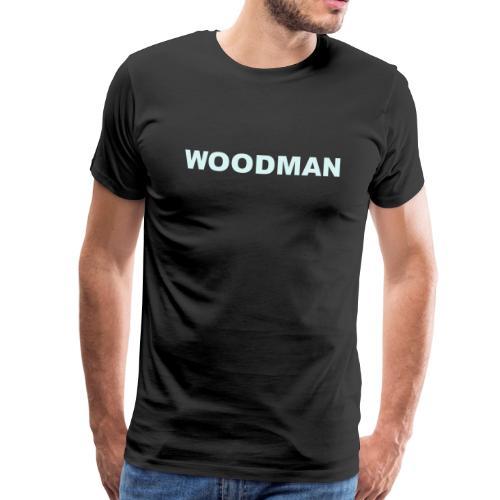 Reflective - WOODMAN + Spider V2, T-Shirt, F/B - Men's Premium T-Shirt