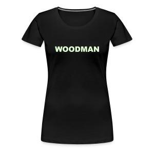 Glow in the dark - WOODMAN + Spider V2, Women's T-Shirt, F/B - Women's Premium T-Shirt