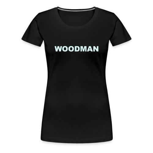 Reflective - WOODMAN + Spider V2, Women's T-Shirt, F/B - Women's Premium T-Shirt