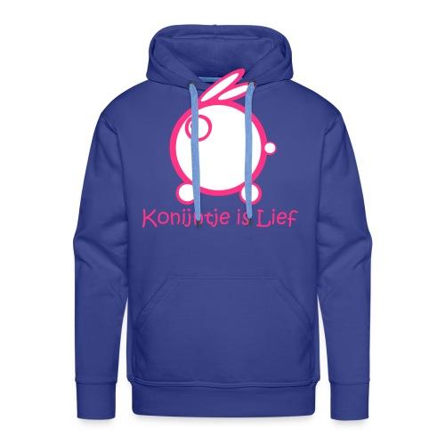 Konijntje is LIef - Mannen Premium hoodie