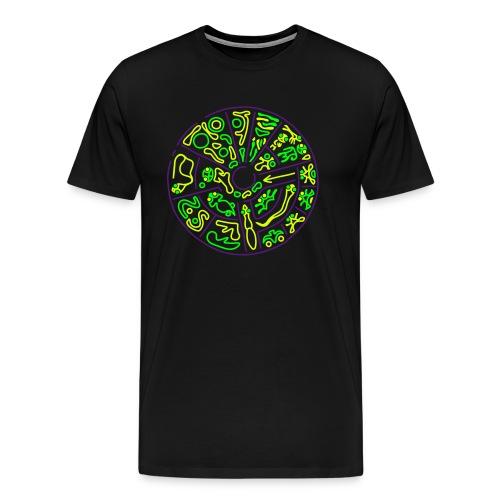 Disco Genetico Men's Oversize Shirt  - Men's Premium T-Shirt