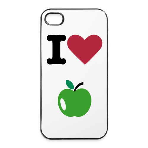 Coque souple  5 ( I Love Apple )  - Coque rigide iPhone 4/4s