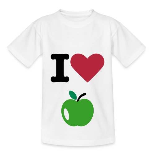 Maillot I Love Apple  - T-shirt Ado