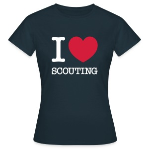 I love Scouting - Vrouwen T-shirt