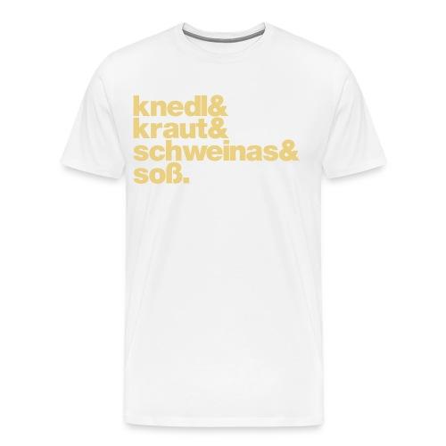 Herrenshirt Knedl - Druck beige - Männer Premium T-Shirt