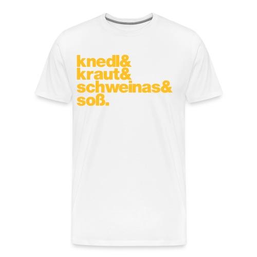 Herrenshirt Knedl - Druck gelb - Männer Premium T-Shirt