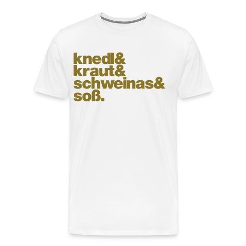 Herrenshirt Knedl - Druck gold - Männer Premium T-Shirt