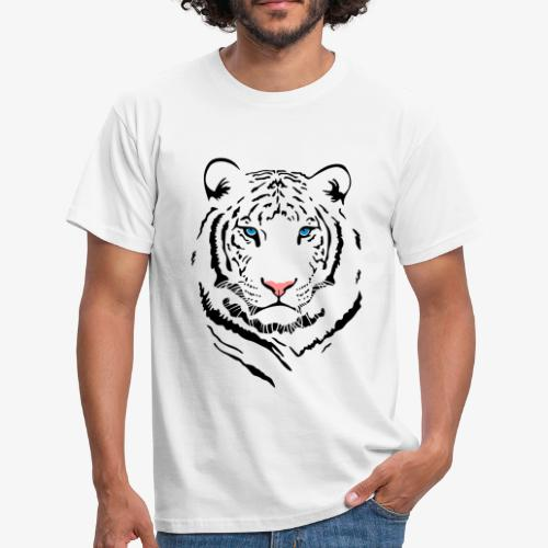Men's White Tiger #2 T-Shirt - Men's T-Shirt