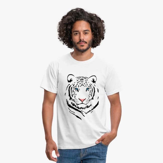"Men's ""White Tiger #2"" T-Shirt"