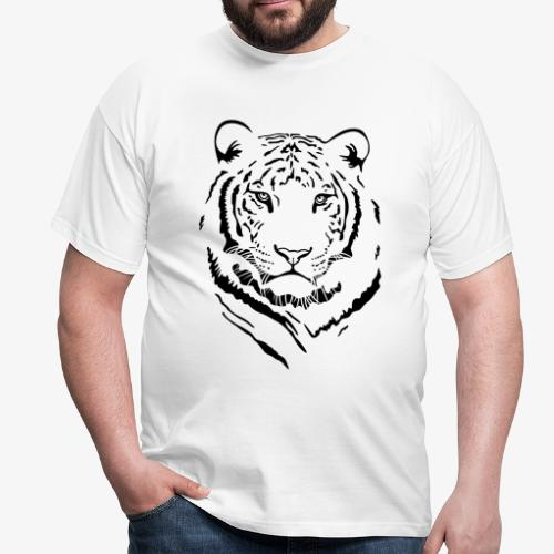 Men's White Tiger #1 T-Shirt - Men's T-Shirt