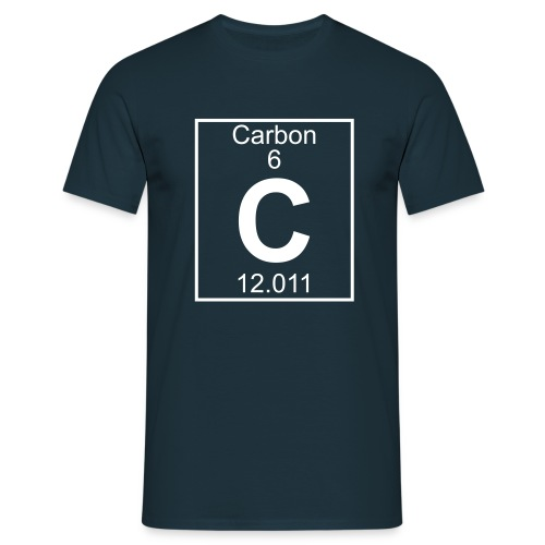 Carbon (C) (element 6) - Full 1 col Shirt - Men's T-Shirt