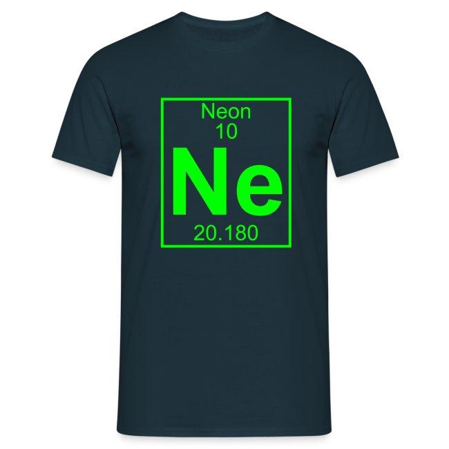 Periodic Table Words Neon Ne Element 10 Full 1 Col Shirt