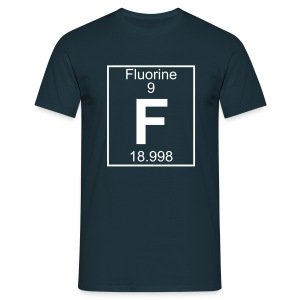 Fluorine (F) (element 9) - Full 1 col Shirt - Men's T-Shirt